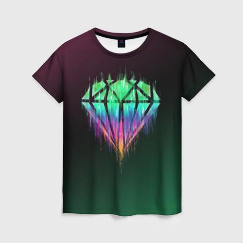 Женская футболка 3D Бриллиант