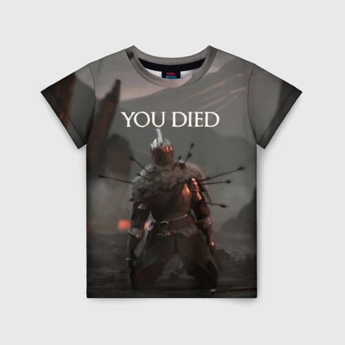 Детская футболка 3D YOU DIED