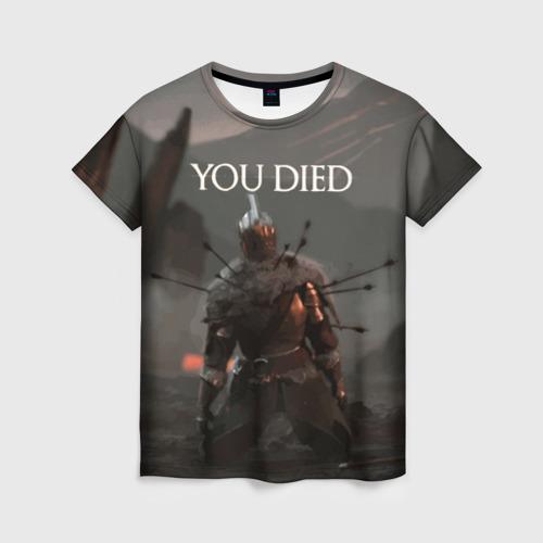 Женская футболка 3D YOU DIED