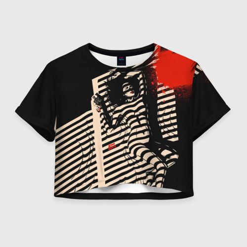 Женская футболка Crop-top 3D Sin City - Ava