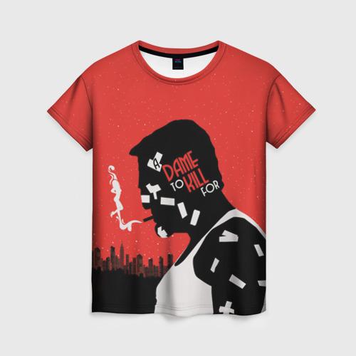 Женская футболка 3D Город грехов