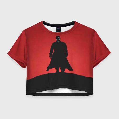Женская футболка Crop-top 3D Город грехов - Марв