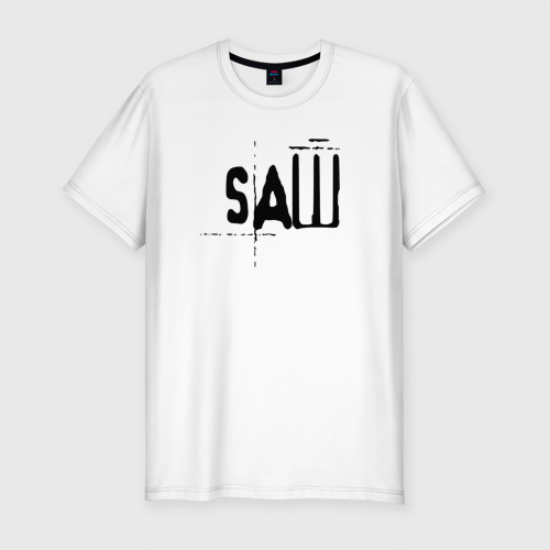 Мужская футболка хлопок Slim Пила