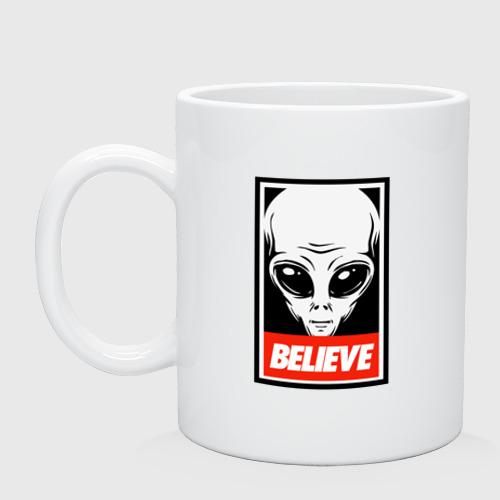 Кружка керамическая I want To Believe UFO - Obey