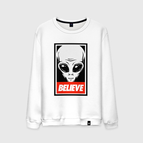 Мужской свитшот хлопок I want To Believe UFO - Obey