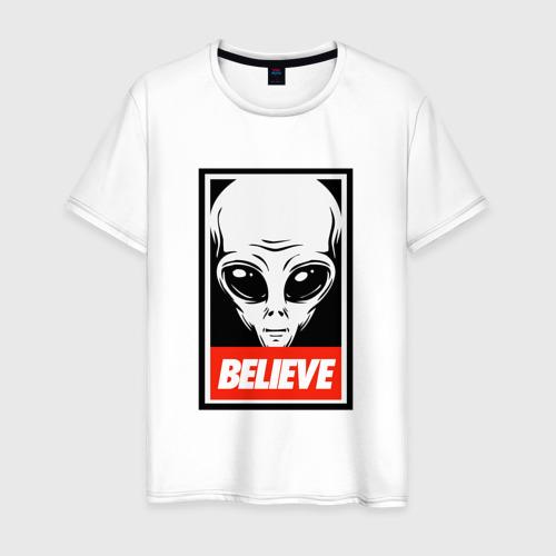 Мужская футболка хлопок I want To Believe UFO - Obey