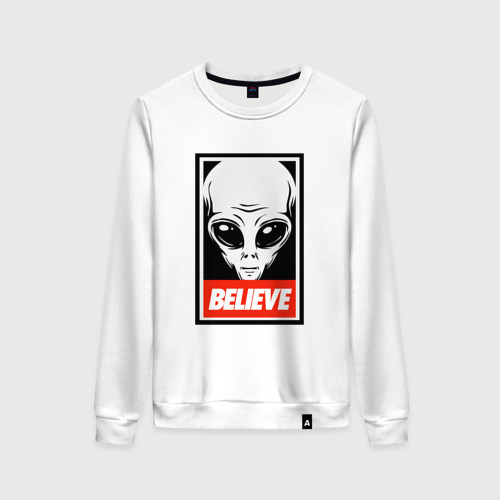 Женский свитшот хлопок I want To Believe UFO - Obey