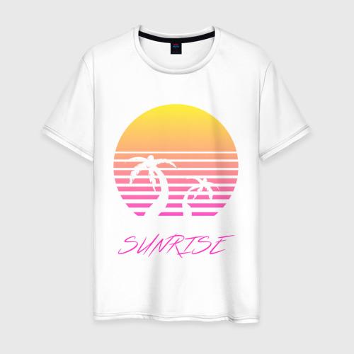 Мужская футболка хлопок Retro sunrise