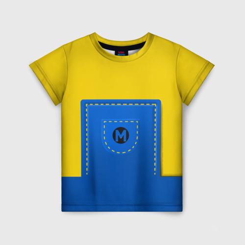 Детская футболка 3D Костюм миньона