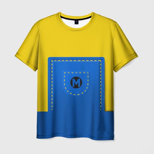 Мужская футболка 3D Костюм миньона