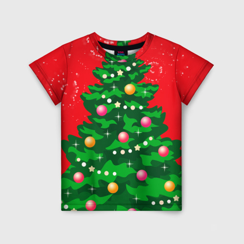 Детская футболка 3D Костюм Ёлки