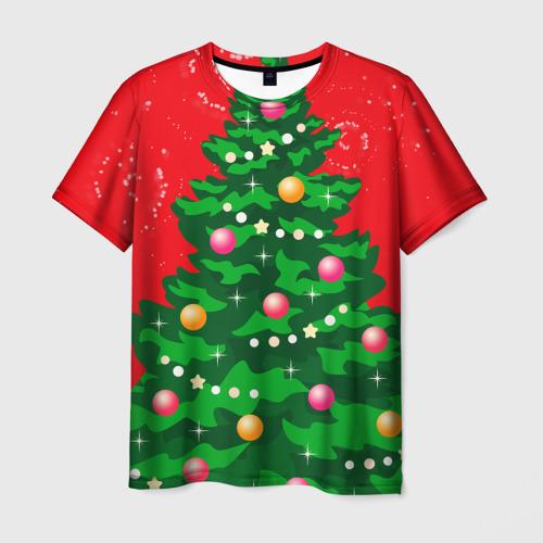 Мужская футболка 3D Костюм Ёлки