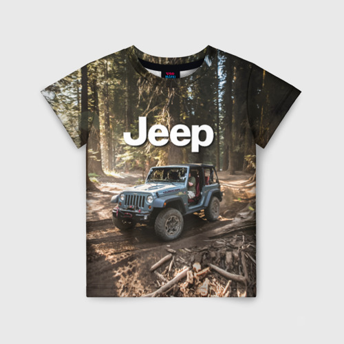 Детская футболка 3D Jeep
