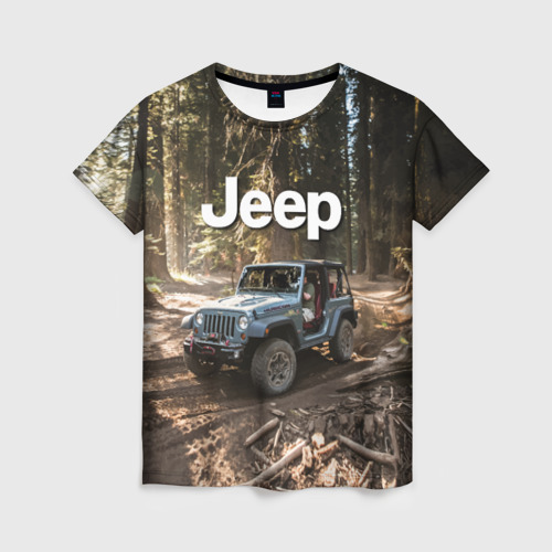 Женская футболка 3D Jeep