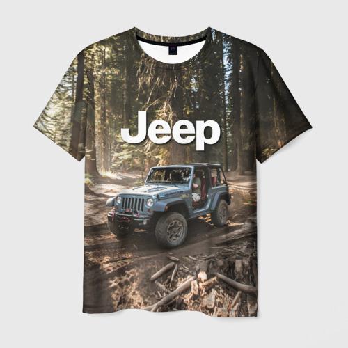 Мужская футболка 3D Jeep