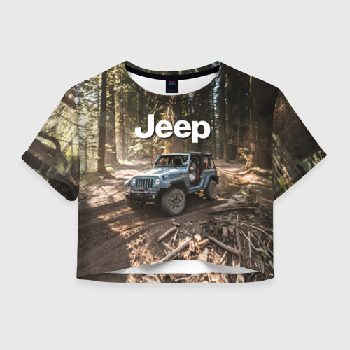 Женская футболка Crop-top 3D Jeep