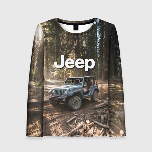 Женский лонгслив 3D Jeep