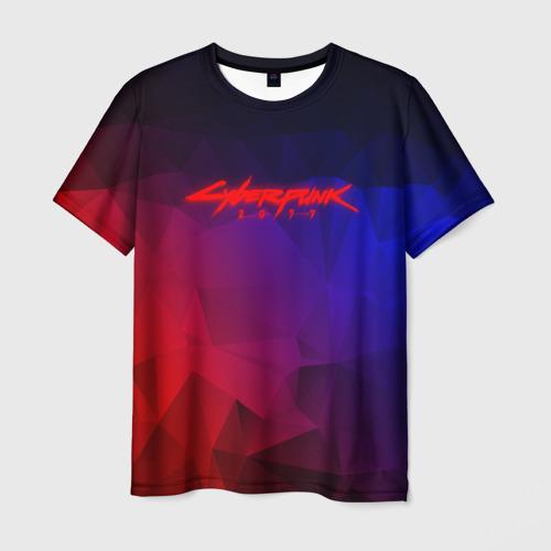 Мужская футболка 3D CYBERPUNK 2077 | КИБЕРПАНК 2077