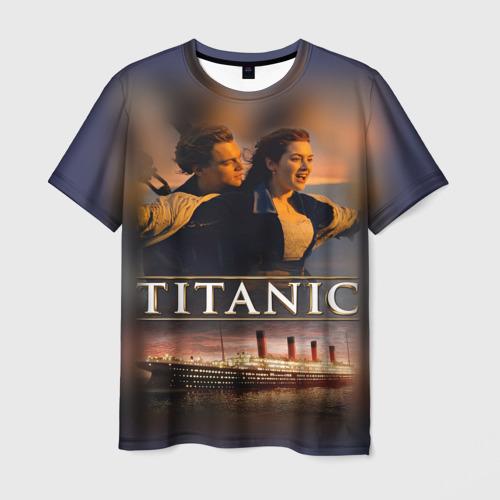 Мужская футболка 3D Титаник Джек и Роза