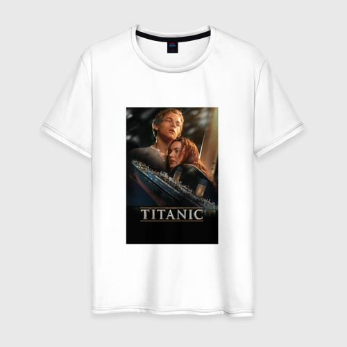Мужская футболка хлопок Постер Титаник Джек и Роза