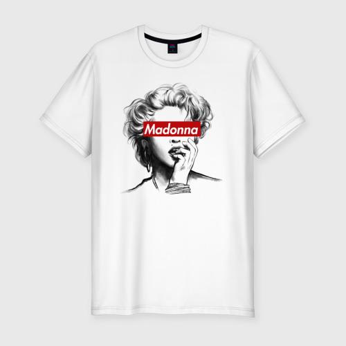 Мужская футболка хлопок Slim Мадонна