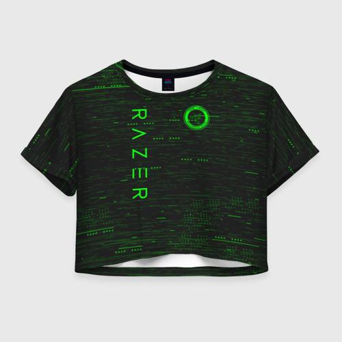 Женская футболка Crop-top 3D RAZER