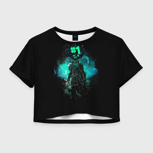 Женская футболка Crop-top 3D Fortnite. Ragnarok