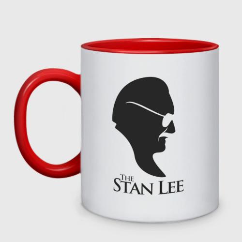 Кружка двухцветная Стэн Ли