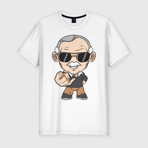 Мужская футболка хлопок Slim Stan Lee