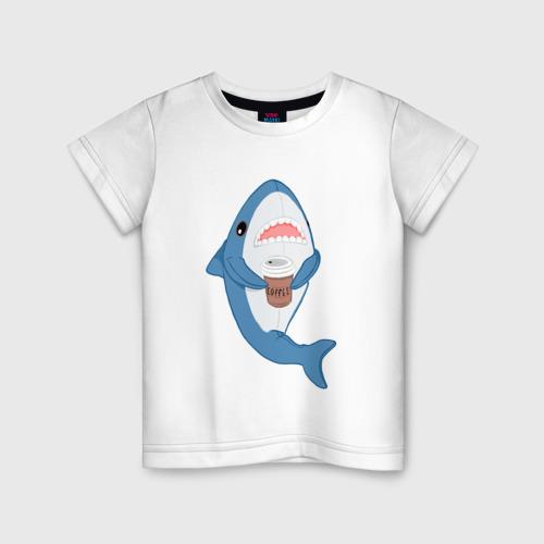 Детская футболка хлопок Hype Shark