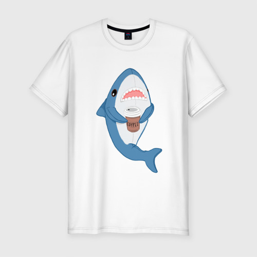 Мужская футболка хлопок Slim Hype Shark
