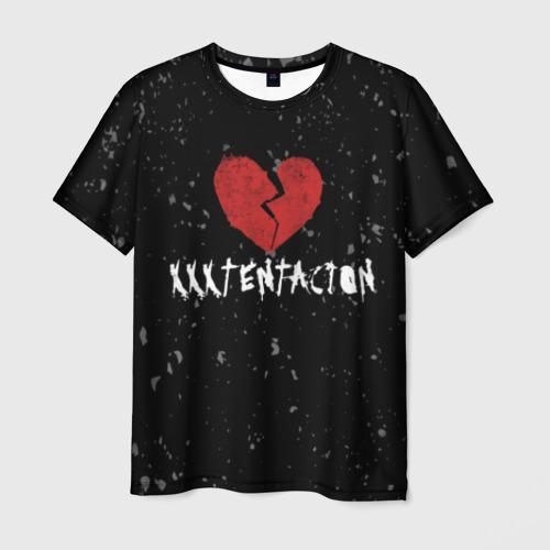 Мужская футболка 3D XXXTentacion Red Broken Heart