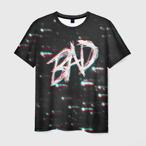 Мужская футболка 3D XXXTentacion - BAD Glitch