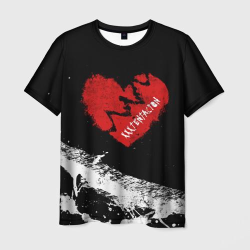 Мужская футболка 3D XXXTentacion Broken Heart