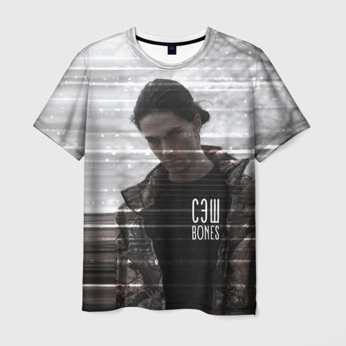 Мужская футболка 3D Bones СЭШ с Костяном