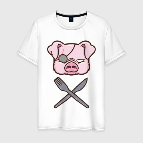 Мужская футболка хлопок Свинья