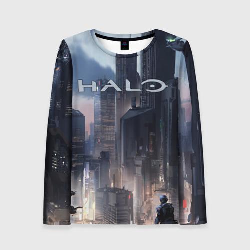 Женский лонгслив 3D Halo