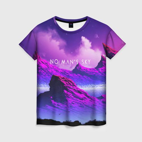 Женская футболка 3D No Mans Sky