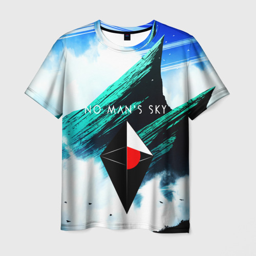 Мужская футболка 3D NO MANS SKY WORLD