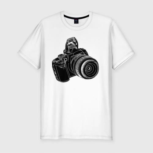 Мужская футболка хлопок Slim зеркалка