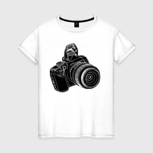 Женская футболка хлопок зеркалка