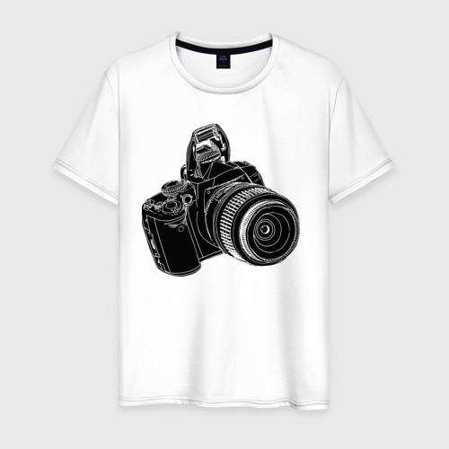 Мужская футболка хлопок зеркалка