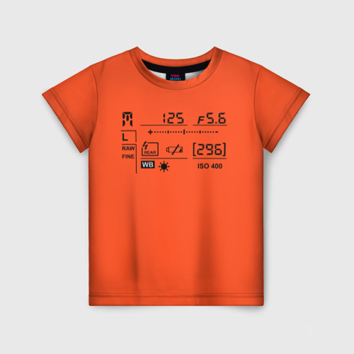Детская футболка 3D Settings