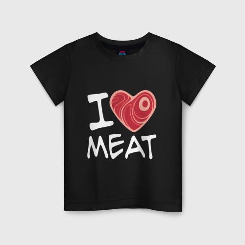 Детская футболка хлопок Я люблю мясо
