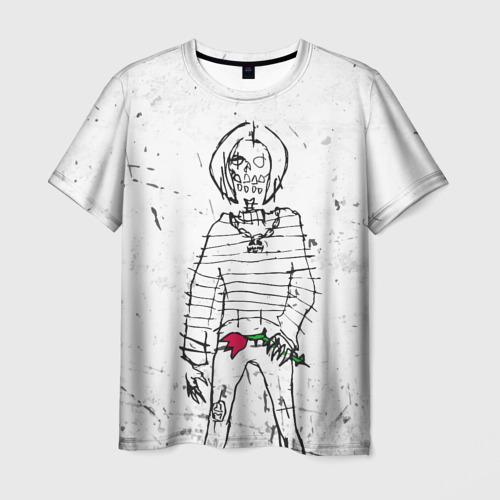 Мужская футболка 3D Lizer - Blessed