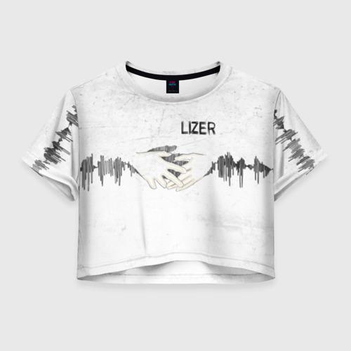 Женская футболка Crop-top 3D Lizer - Не Отдам