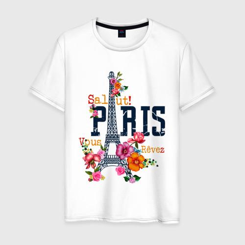 Мужская футболка хлопок Salut PARIS