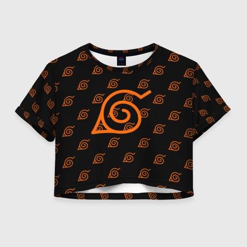 Женская футболка Crop-top 3D Знак скрытого листа (Naruto) 1
