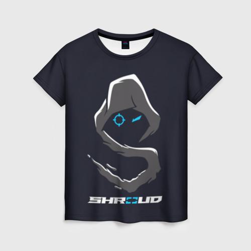 Женская футболка 3D Стример «Shroud»