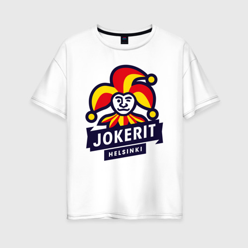 Женская футболка хлопок Oversize Йокерит ХК